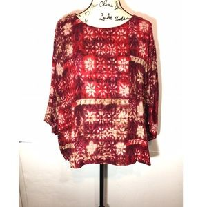 Pure Jill Pullover Top Floral